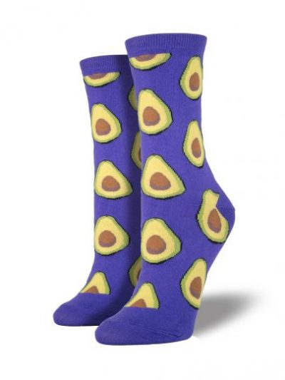 Avocado sokken paars