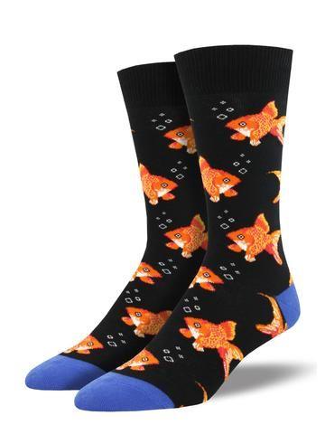 Goudvissen sokken zwart